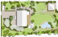 Image result for дизайн участка где много деревьев