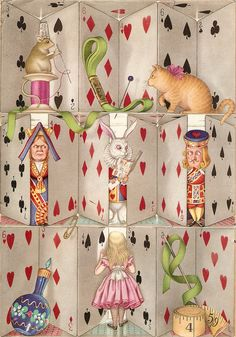 'Alice, where art thou?' - inside front cover by Antony Groves-Raines Lewis Carroll, Alice In Wonderland Party, Adventures In Wonderland, Chesire Cat, Alice Madness, Art Thou, Were All Mad Here, Through The Looking Glass, Disney