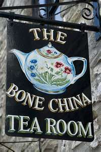 The Bone China Tea Room shingle sign. by chandra Storefront Signs, Pub Signs, Cuppa Tea, My Cup Of Tea, Store Signs, Display Design, High Tea, Drinking Tea, Afternoon Tea