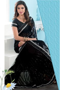 Black Brasso Party Wear Saree