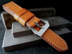 Handcrafted watch straps by Greg Stevens, made from English Bridle leathers and vintage military materials.