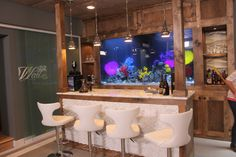 Celeb athlete basement bar spa and man cave, New Jersey,  Featured on Mancaves and Tanked. @Lyani Powers
