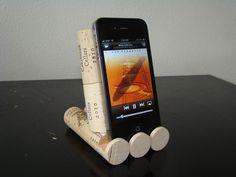 Wine Cork iPhone, iPad, iPod Dock/Stand. $10.00, via Etsy.