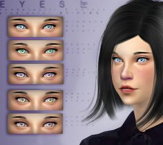 ✿MADE BY 꽃SIMS꽃잎✿ •Soft pastel colors eye contacts, with gradients. ✿5 COLOR VARIATIONS ✿ •Five different colors and tones for your Sims, contains: DIAMOND, blue and pruple gradient. LEAVES, green and blue gradient. WAKE, purple and pink gradient. APPLE, red and green gradient. NIGHT, purple and yellow gradient. Download here.