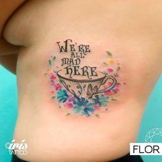 Alicia inspiró en el diseño. Y también la abuela Alicia la inspiró en la vida a Laura. #watercolortattoo by Flor #iristattoo  Si te quieres tatuar con Flor escribinos a color@iristattoo.com.ar o llámanos al (011)48243197 by iristattooart