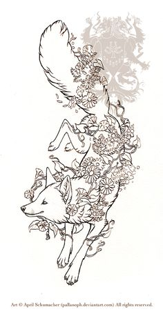 Spring Fox Tattoo: Lines by pallanoph