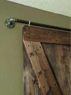 Rolling door hardware is another kind of barn door that is growing in popularity. Barn Door In House, Barn Door Closet, Barn Door For Windows, Interior Sliding Barn Doors, Diy Sliding Barn Door, Sliding Doors, Barn Door Designs, The Doors, Front Doors
