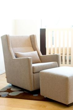 Nursing chair -- Gus Modern Sparrow Glider | Belle Wether $1000