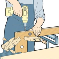 Clamp frame while drilling