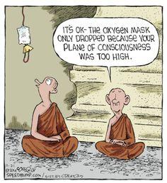 #loveandlight #truth #guru #spirituality #awakenthesoul #spiritualawareness #Chakra Funny Cartoons, Funny Jokes, Hilarious, Funny Comics, Funny Spiritual Memes, Speed Bump Comic, Guter Rat, Zen Quotes, Zen Sayings