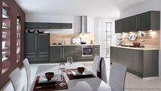 Marvelous Pair Gray Cabinets With Warm Colors And Materials. Gray Can Appear Austere  And Cold Compared · Modern Grey KitchenGrey ...