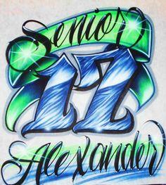 Airbrush T Shirt Senor Class Year Airbrush by BizzeeAirbrush