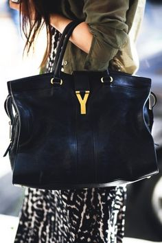 What a beauty! This YSL tote is crazy luxe and cute.     Photographed by Jasmine Gregory