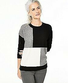 Charter Club Colorblock Cashmere Sweater, Created for Macy's - Classic Black Combo Dresses With Leggings, Leggings Are Not Pants, Black Sweaters, Sweaters For Women, Unisex Baby Clothes, Winter Outfits Women, Color Block Sweater, Black And Grey, Black Cream