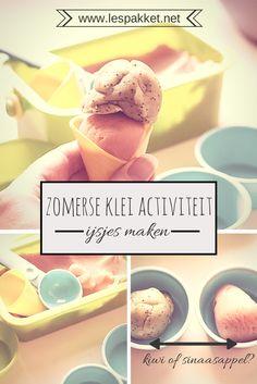 Zelf klei maken: ijsjes maken van klei - Lespakket
