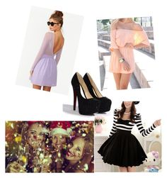 New Years Eve w/ Friends by mythicalmeli on Polyvore featuring polyvore, fashion, style, Nasty Gal, Milly, clothing, new years eve, pumps, skater dress and dresses