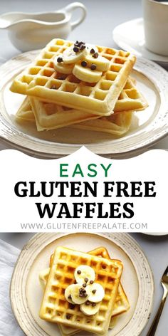 This gluten free waffle recipe couldn't be any easier. It uses a few ingredients and a couple of simple steps and they have the best texture of any gluten free waffle. #glutenfree #breakfast Gluten Free Waffle Mix Recipe, Waffle Mix Recipes, Gluten Free Waffles, Easy Gluten Free Desserts, Gluten Free Baking, Gluten Free Recipes, Few Ingredients, Celiac, Glutenfree