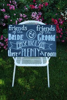 The Gray Bungalow on Etsy - Custom Chalkboard Wedding sign