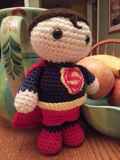 I created this Superman for my nephew - I made the pattern as I went along and…