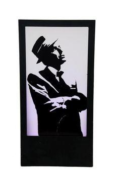 Frank Sinatra Silhouette Panel