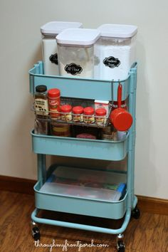 Create A Baking Cart To Better Organize Your Baking Time