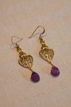 Chandelier amethyst earrings by PanachebyAmanda on Etsy, $24.20