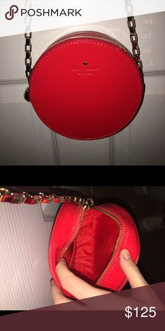 """Kate Spade """"Normandy Park"""" bag Used once authentic Kate Spade red bag with gold chain kate spade Bags Shoulder Bags"""