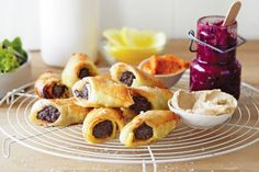 Find us a person who doesn& love a sausage roll, and we& eat our hats. Frozen Puff Pastry, Puff Pastry Sheets, Cumin Lamb, Moroccan Spices, Sausage Rolls, Appetisers, Rolls Recipe, Tray Bakes, Finger Foods