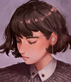 My silence means I am tired of fighting and now there is nothing left to fight for. My silence means I am tired of explaining my feelings to you, b. Pretty Art, Cute Art, Character Art, Character Design, Arte Sketchbook, Poster S, Aesthetic Art, Portrait, Cartoon Art