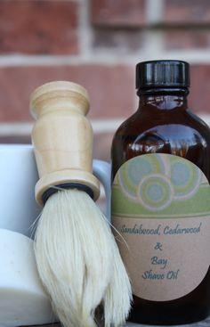 DIY shaving soap and pre-shave oil