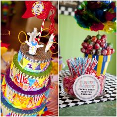first birthday pictures ideas with son and mom | ... Hamilton's Vintage Circus First Birthday Party! | The TomKat Studio
