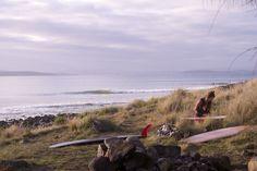 Point Surfing in Tasmania