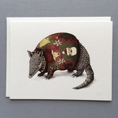 The ultimate Texan Christmas card - This armadillo wins the ugly sweater contest hands down. Shop Serious Creatures for unique cards they won't forget! Illustration, Black Artwork, Art Store, Hand Illustration, Moose Art, Paper Texture, Artwork, Prints, Online Art Store