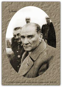 ATATÜRK, İSTANBUL HARP AKADEMİLERİ TATBİKATINDA.  28.05.1936