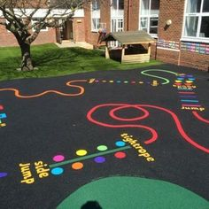 Wet Pour Rubber surfacing across Canterbury, Kent, London and the UK for schools, nurseries and playground flooring. Kids Backyard Playground, Preschool Playground, Fall Preschool Activities, Playground Games, Playground Flooring, Playground Design, Preschool Crafts, Outdoor Activities, Children Playground