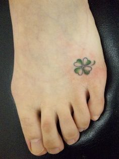 Four Leaf Clover Tattoos, Secret, Tattoos Clover, Tattoos Ankle, Tatoo Clover, 4…