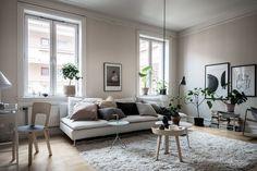 Living room in beige