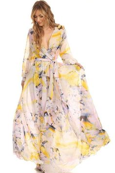 Floral Wrap Maxi Dress                                                                                                                                                     More