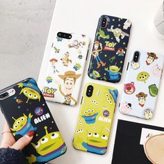 Supre Cute Toy Story Alien Buzz Lightyear Cartoon soft silicone Phone Case for iPhone 6 7 7 Plus 8 X XR XS MAX cover coque Funda Iphone 6s, Iphone 8, Apple Iphone 6, Iphone Cases, Toy Story Alien, Toy Story Buzz, Disney Phone Cases, Cute Phone Cases, Cartoon Toys