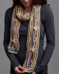 Crochet Pattern- A Tangle of Color Scarf        ♪ ♪ ... #inspiration #crochet  #knit #diy GB  http://www.pinterest.com/gigibrazil/boards/
