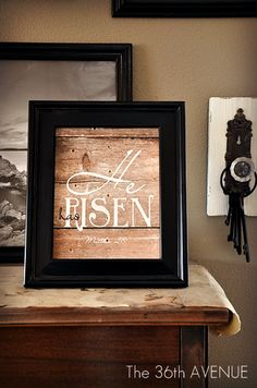 He has Risen Free Printables. { Two more colors }  #Easter