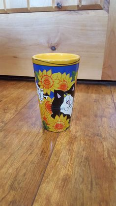 CATZILLA by Candace Reiter Cats Sunflowers Flowers Garden Tall Latte Coffee Mug…