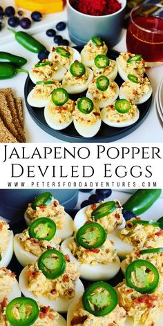 Jalapeno Popper Deviled Eggs are a low carb keto appetizer that everyone will love. Stuffed with cream cheese, bacon, cheddar and 3 types of jalapenos.