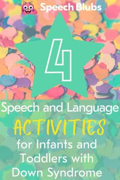 Our son has received speech services since he was 6 months old. After consulting with his ENT and audiologist, we decided to have tubes placed in his ears and started to play a little catch up through various activities. Between his Speech Therapist and hearing specialist, we were exposed to fun, easy activities that can be done to promote speech and language development in infants and toddlers with Down Syndrome. Toddler Speech Activities, Activities To Do With Toddlers, Preschool Speech Therapy, Speech Therapy Activities, Down Syndrome Activities, Down Syndrome Kids, Communication And Language Activities, Language Development, Preschool Special Education