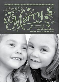 Chalkboard Cheer Holiday Photo Cards by Ellinée