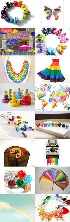 Lucky Rainbows by Katie R on Etsy--Pinned with TreasuryPin.com