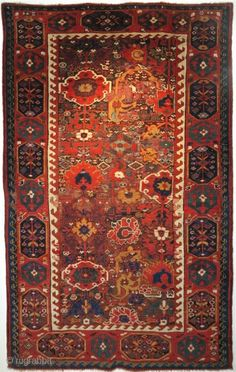 This magnificent Kurdish rug from the far north enclave of Sauj bulagh