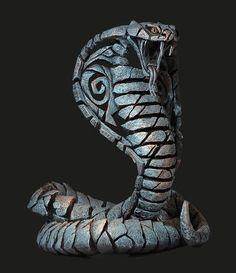 Cobra Naja Haje in Teal by Edge Sculpture Escorpion Tattoo, Cobra Tattoo, Snake Tattoo, Hand Built Pottery, Slab Pottery, Snake Sketch, Character Inspiration, Character Art, Print 3d