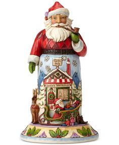 Jim Shore Santa with Sleigh Collectible Figurine - Holiday Lane - Macy's