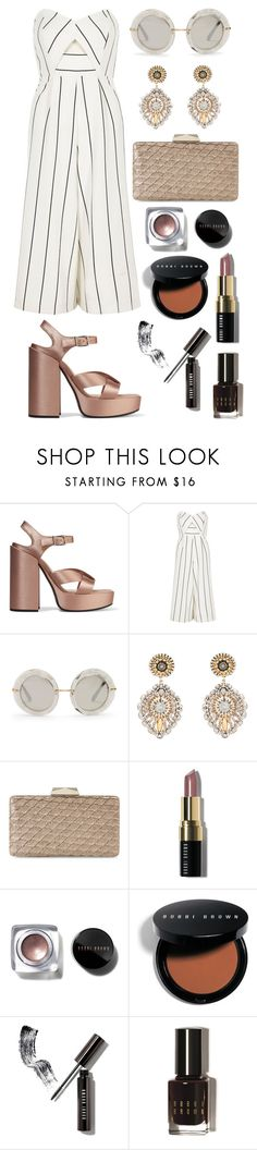 """Strapless Jumpsuit"" by alcdance1 ❤ liked on Polyvore featuring Jil Sander, River Island, Dolce&Gabbana, Miguel Ases, Jessica McClintock and Bobbi Brown Cosmetics"